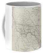 Map Illustrating General Sherman's March Through Georgia  Coffee Mug