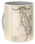 Map Of Aegyptus Antiqua Coffee Mug by Sydney Hall