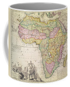 Map Of Africa Coffee Mug by Pieter Schenk