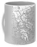 Map Of Ancient Greece Coffee Mug