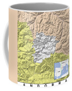Map Of Andorra Coffee Mug