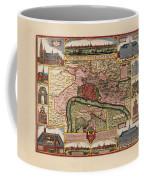 Map Of Antwerp 1675 Coffee Mug