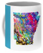 Map Of Arkansas-colorful Coffee Mug