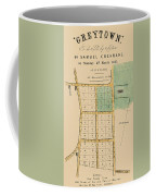 Map Of Auckland 1863b Coffee Mug