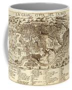 Map Of Cairo 1575 Coffee Mug
