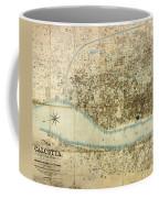 Map Of Calcutta 1857 Coffee Mug