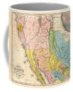 Map Of California New Mexico Texas  1849 Coffee Mug