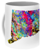 Map Of Connecticut-colorful Coffee Mug