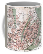 Map Of Copenhagen 1888 Coffee Mug