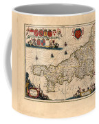 Map Of Cornwall 1646 Coffee Mug
