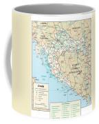Map Of Croatia Coffee Mug