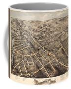 Map Of Danbury 1875 Coffee Mug