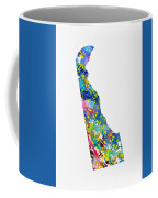 Map Of Delaware-colorful Coffee Mug