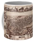 Map Of Dover 1885 Coffee Mug