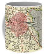 Map Of Dublin Coffee Mug