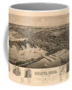 Map Of Duluth 1893 Coffee Mug