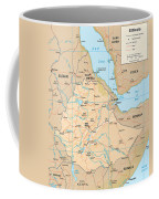 Map Of Ethiopia Coffee Mug