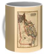 Map Of Georgia 1817 Coffee Mug
