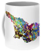 Map Of Georgia-colorful Coffee Mug