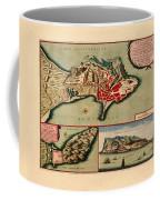 Map Of Gibraltar 1706 Coffee Mug