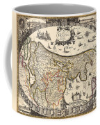 Map Of Holland 1630 Coffee Mug