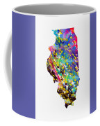 Map Of Illinois-colorful Coffee Mug