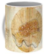 Map Of Imola 1502 Coffee Mug