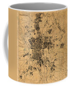 Map Of Madrid Spain Vintage Street Map Schematic Circa 1943 On Old Worn Parchment  Coffee Mug