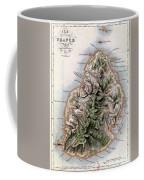 Map Of Mauritius Coffee Mug