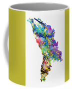 Map Of Moldova-colorful Coffee Mug