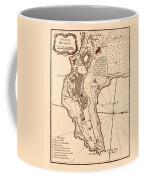 Map Of Monaco 1764 Coffee Mug