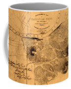 Map Of Nashville 1860 Coffee Mug