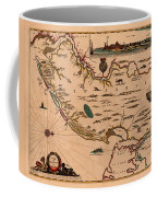 Map Of New Jersey 1672 Coffee Mug