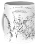 Map Of North America, Plotting The Expeditions Of Sir Alexander Mackenzie In 1789 And 1798 To The Ar Coffee Mug