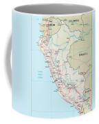 Map Of Peru 2 Coffee Mug