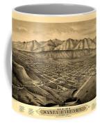 Map Of Santa Barbara 1877 Coffee Mug