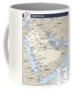 Map Of Saudi Arabia 2 Coffee Mug