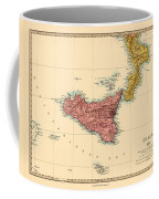 Map Of Sicily 1875 Coffee Mug