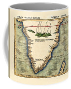 Map Of South Africa 1513 Coffee Mug