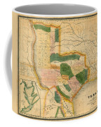 Map Of Texas 1834 Coffee Mug