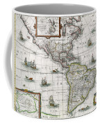 Map Of The Americas Coffee Mug