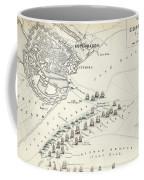 Map Of The Battle Of Copenhagen Coffee Mug