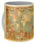Map Of The Extent Of The British Empire 1886  Coffee Mug