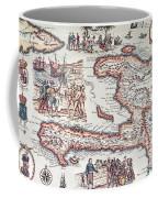 Map Of The Island Of Haiti Coffee Mug