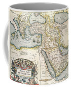 Map Of The Middle East From The Sixteenth Century Coffee Mug by Abraham Ortelius