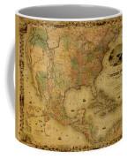 Map Of The United States 1849 Coffee Mug