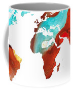 Map Of The World 4 -colorful Abstract Art Coffee Mug