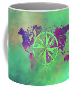 Map Of The World Wind Rose 3 Coffee Mug