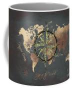 Map Of The World Wind Rose 5 Coffee Mug