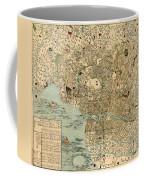 Map Of Tokyo 1854 Coffee Mug